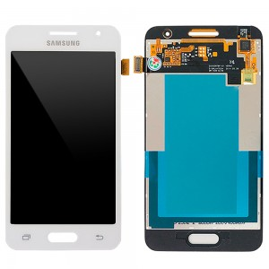 Samsung Galaxy Core 2 G355H - Full Front LCD Digitizer White < Service Pack >