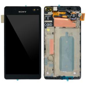 Sony Xperia C4 E5303 E5306 E5353 / C4 Dual E5333 E5343 E5363 - Full Front LCD Digitizer with Frame Black