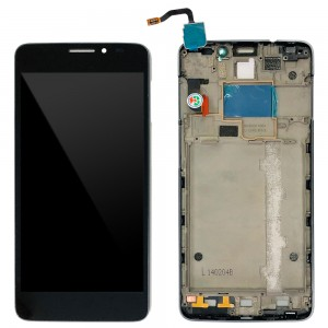 Alcatel One Touch Idol X 6040D - Full Front LCD Digitizer with Frame Black