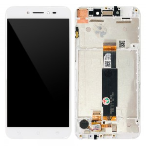 Asus Zenfone Live ZB501KL - Full Front LCD Digitizer with Frame White