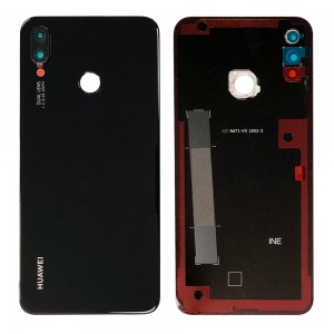 Huawei P Smart+ - Battery Cover Black With Camera Lens