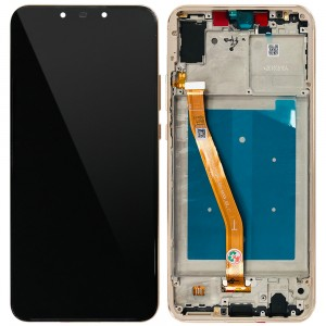 Huawei Nova 3 - Full Front LCD Digitizer with Frame Gold