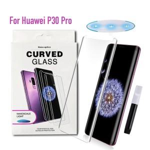 Huawei P30 Pro - NanoScale Liquid Full Glue 5D Tempered Glass With Install Kit & UV Light