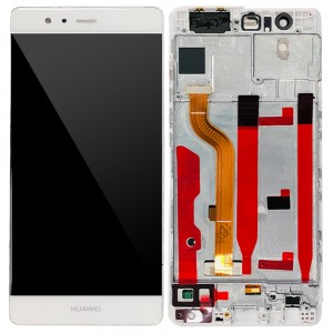 Huawei Ascend P9 - Full Front LCD Digitizer with Frame White
