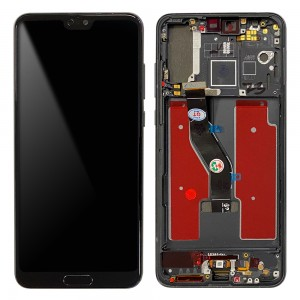 Huawei P20 Pro - Full Front LCD Digitizer with Frame Black