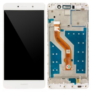 Huawei Y7 2017 / Nova Lite+ - Full Front LCD Digitizer with Frame White