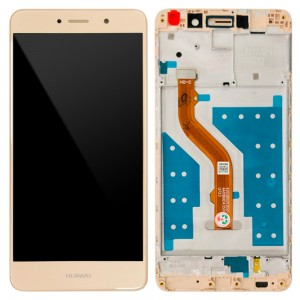 Huawei Y7 2017 / Nova Lite+ - Full Front LCD Digitizer with Frame Gold