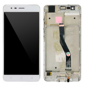 Asus ZenFone 3 Zoom ZE553KL - Full Front LCD Digitizer with Frame White