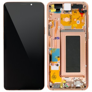 "Samsung Galaxy S9 G960F - Full Front LCD Digitizer With Frame Gold "" Service Pack """