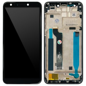 Asus Zenfone 5 Lite ZC600KL - Full Front LCD Digitizer with Frame Midnight Black