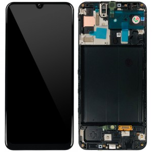 "Samsung Galaxy A50 A505F - Full Front LCD Digitizer with Frame Black "" Service Pack """