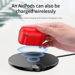 Baseus - Wireless Charger Case for Airpods Red