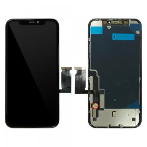 iPhone XR - Full Front LCD Digitizer Black In-Cell TianMa With Back Plate