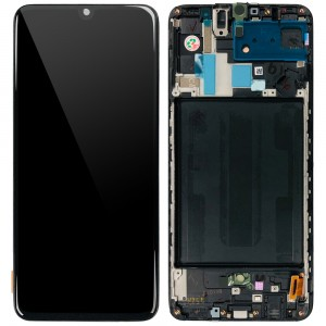 """Samsung Galaxy A70 A705F - Full Front LCD Digitizer Black """" Service Pack """""""