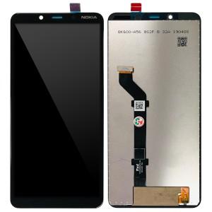 Nokia 3.1 Plus - Full Front LCD Digitizer Black