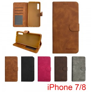 iPhone 7 / 8 - Diaobaolee Wallet leather Case with 3 Card Slots