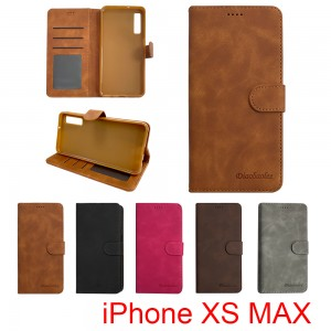 iPhone XS MAX - Diaobaolee Wallet leather Case with 3 Card Slots