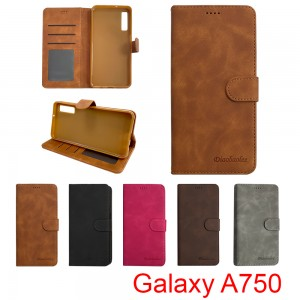 Samsung Galaxy A7 2018 A750 - Diaobaolee Wallet leather Case with 3 Card Slots