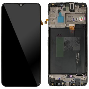 "Samsung Galaxy A10 A105 / M10 2019 M105 - Full Front LCD Digitizer Black With Frame  "" Service Pack """