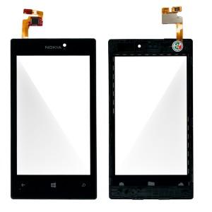 Nokia Lumia 520 -Vidro Touch Screen Preto