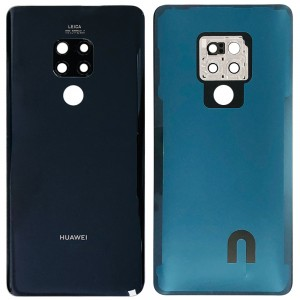 Huawei Mate 20 - Battery Cover Black with Camera Lens & Adhesive