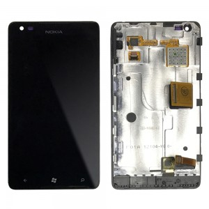 Nokia Lumia 900  - Full Front LCD Digitizer Whith Frame Black