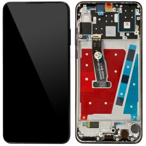Huawei P30 Lite - Full Front LCD Digitizer with Frame Midnight Black (Version 48MP)