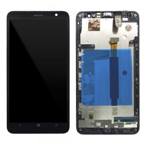 Nokia Lumia 1320 - Full Front LCD Digitizer with Frame Black
