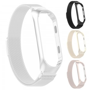 Xiaomi Smart Band 4 - Milanese Magnetic Loop Stainless Steel Watch Band Black