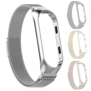 Xiaomi Smart Band 4 - Milanese Magnetic Loop Stainless Steel Watch Band Silver