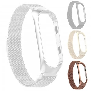 Xiaomi Smart Band 4 - Milanese Magnetic Loop Stainless Steel Watch Band Rose Gold