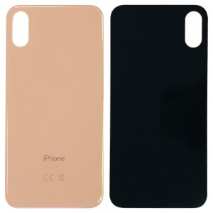 iPhone XS - Battery Cover with Big Camera Hole Gold