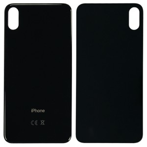 iPhone XS MAX - Battery Cover with Big Camera Hole Black