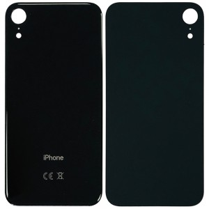 iPhone XR - Battery Cover with Big Camera Hole Black