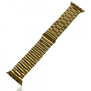 iWatch 42mm / 44mm - Stainless Steal Strap Gold
