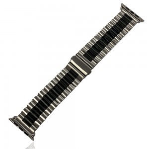 iWatch 42mm / 44mm - Stainless Steal Strap Black/Silver
