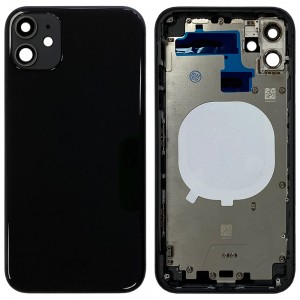 iPhone 11 - Back Housing Cover with Buttons Black