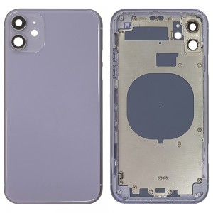 iPhone 11 - Back Housing Cover with Buttons Purple