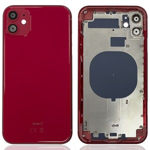 iPhone 11 - Back Housing Cover with Buttons Red