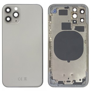 iPhone 11 Pro - Back Housing Cover with Buttons White