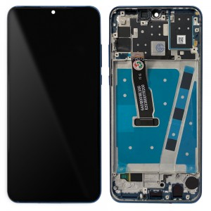 Huawei P30 Lite - Full Front LCD Digitizer with Frame Peacock Blue (Version 24MP)