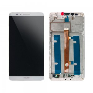 Huawei Ascend Mate 7 - Full Front LCD Digitizer With Frame White
