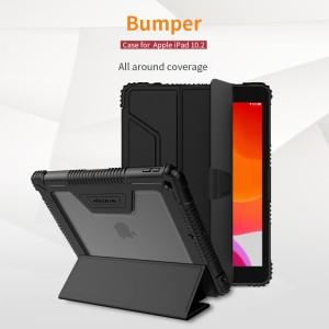 iPad 10.2 (2019) - Nillkin Defender Bumper Leather Cover Case Black